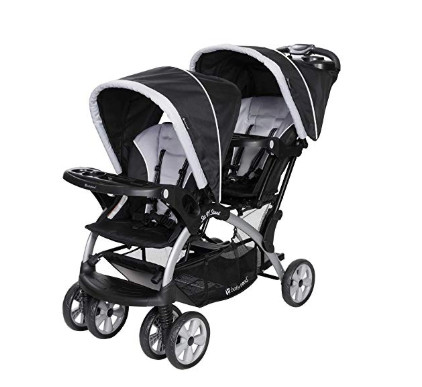 Baby Trend Sit N Stand Tandem Stroller + Infant Car Seat Travel System