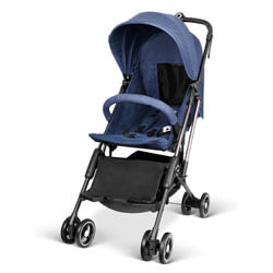 besrey Lightweight Stroller Airplane Stroller Compact Buggy One Step Design for Opening & Folding Easily get on Plane - Blue