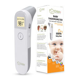 Metene Medical Forehead and Ear Thermometer, Infrared Digital Baby Thermometer