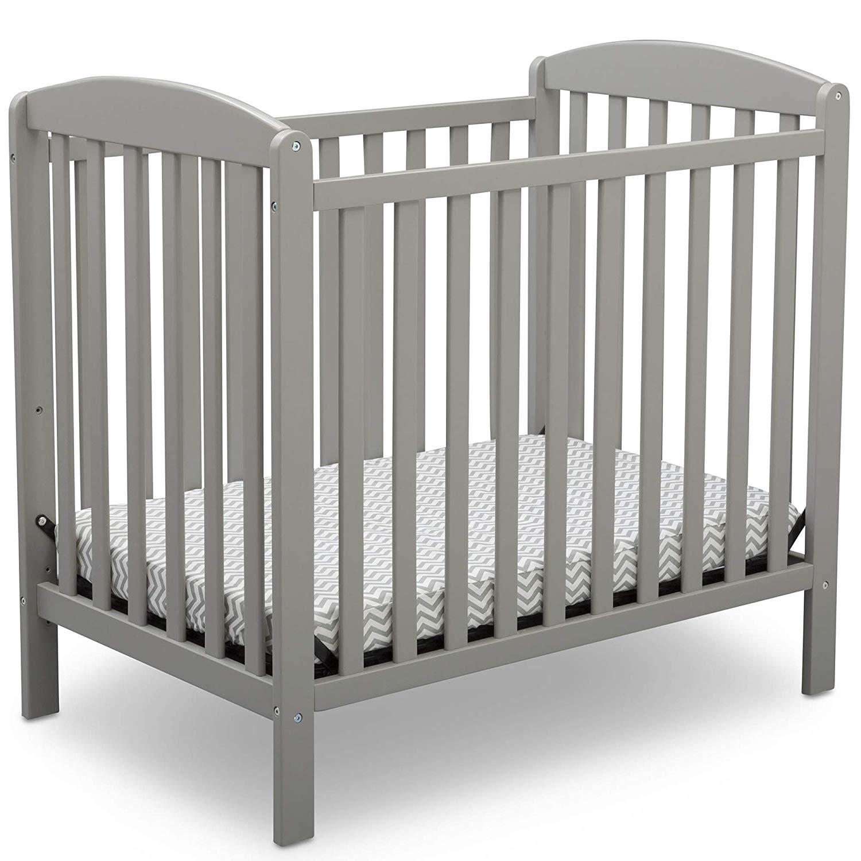 Delta Children Emery Mini Convertible Baby Crib, Best Cribs for Twins