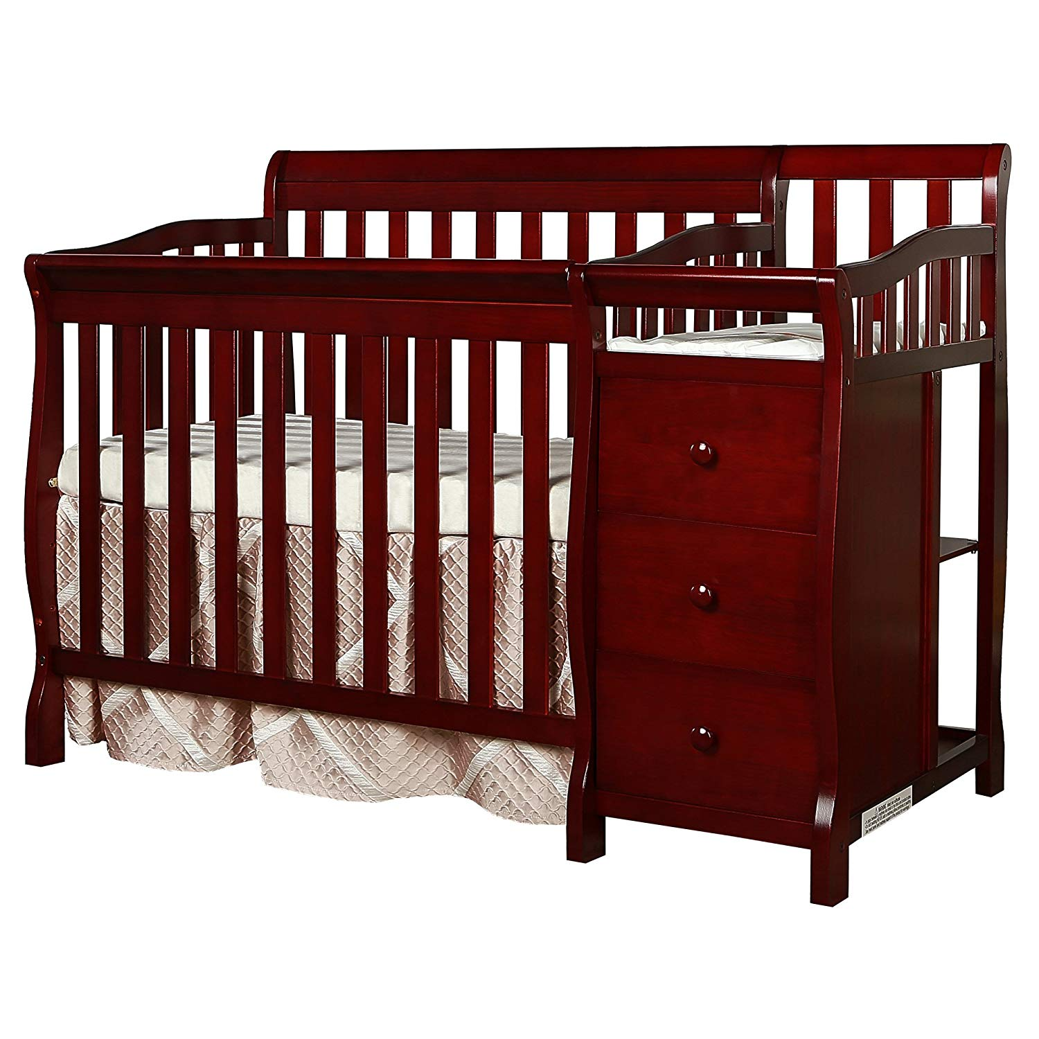 Dream On Me Mini Convertible Crib and Changer, Best Cribs for Twins