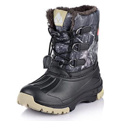 Nova Mountain Little Kid's Winter Snow Boots,NF NFWBNN02 CamouflageGrey 7