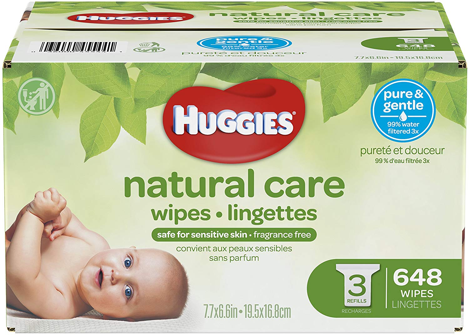 Huggies Natural Care Baby Wipes, Best Water Wipes for Kids