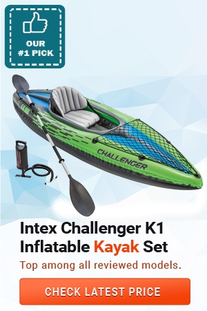 Intex Challenger K1 Kayak, Intex Challenger Inflatable Kayak Set, Best Kayak for Kids