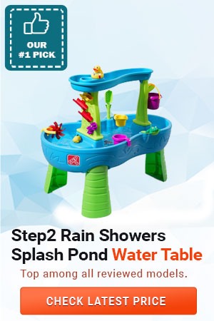 Step2 Rain Showers Splash Pond Water Table, Kids Water Play Table