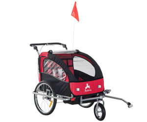 Aosom Bike Trailer Cart Cargo Stroller