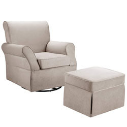 Baby Relax Swivel Glider and Ottoman