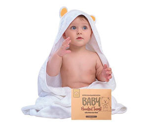 Bamboo Baby Towel by KeaBabies