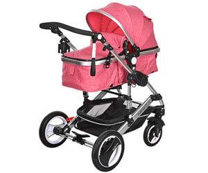 Belecoo Convertible Bassinet Stroller