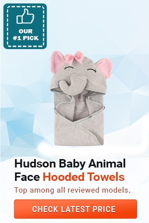 Hudson Baby animal face hooded towels