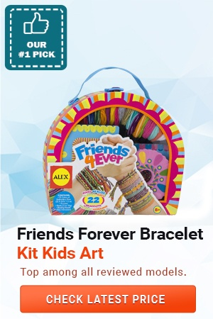 Friends Forever Bracelet Kit Kids Art, Best Gift for 10 Year Old Girls