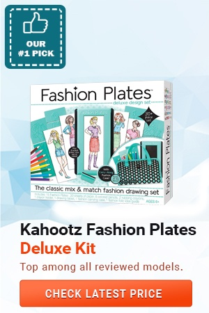 Fashion Plates Deluxe Kit, Gifts for 6 Year Old Girls