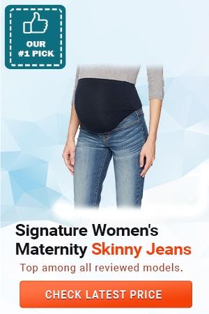 Signature Women's Maternity Skinny Jeans