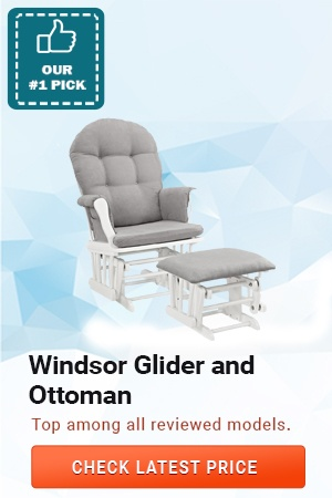 Windsor Glider and Ottoman, Best Nursery Rocking Chairs