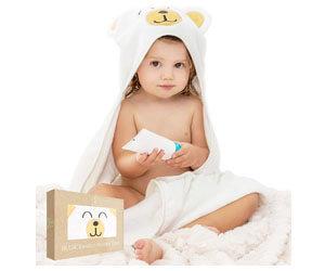 Bugie Bamboo Baby Hooded Bath Towel