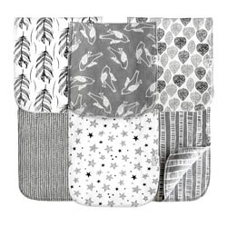Cambria Baby Gray Cotton Baby Burp Cloths Set