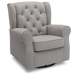 Delta Children Emerson Upholstered Glider Swivel Rocker Chair