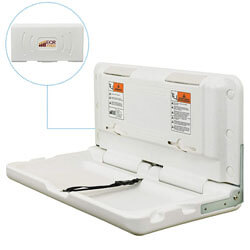ECR4Kids Wall-Mounted Baby Changing Station