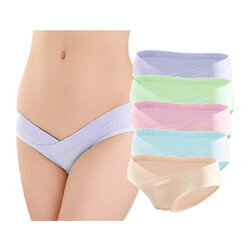 GEPAI Women's Under Bump Cotton Maternity Panties