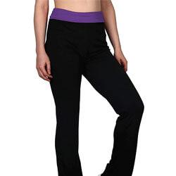 HDE Women's Fold Over Waist Yoga Pants