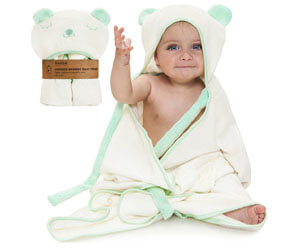 Ha&Da Premium Hooded Bamboo Baby Bath Towel
