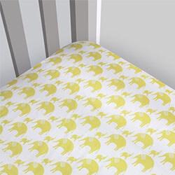 Magnolia Organics Elephant Crib Sheet