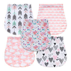 Mii Young Pack Baby Burp Cloths for Girls