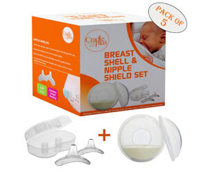 Nippleshield and Breast Shell for Breast Feeding