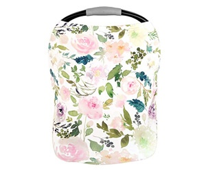 Pobiby Premium Soft and Stretchable Floral Pattern Nursing Cover