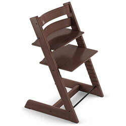 Tripp Trapp Wooden Walnut Baby High Chair