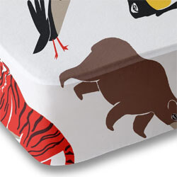 Polka Dots Roam Animal Print Crib Sheet