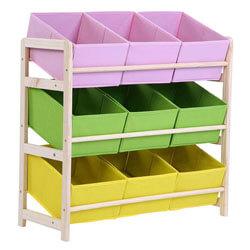 Zerone Children Multi-Color Deluxe Toy Organizer