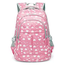Hearts Print School Backpacks, best cheap kids backpacks, best kids backpacks